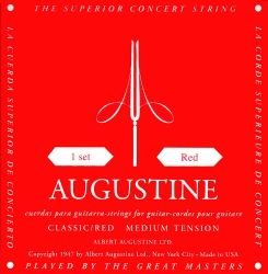 AUGUSTINE Classic-Red Medium Tension Classical  Guitar Strings - струни за класическа китара