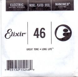 Elixir Single String for Electric guitar with Original Nanoweb ultra thin coating 046