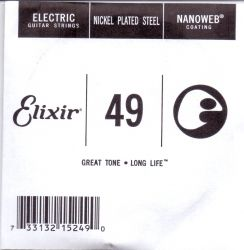 Elixir Single String for Electric guitar with Original Nanoweb ultra thin coating 049