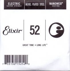 Elixir Single String for Electric guitar with Original Nanoweb ultra thin coating 052