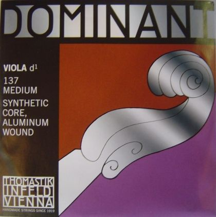 Thomastik Dominant Synthetik core Aluminium wound единична струна за виола - D