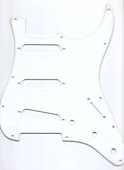 Catfish Pickguard Type Stratocaster 3 SC, 1-пластов, бял 683012