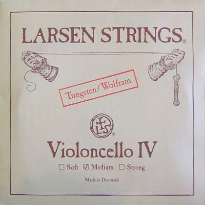 Larsen C волфрам medium - единична струна за чело