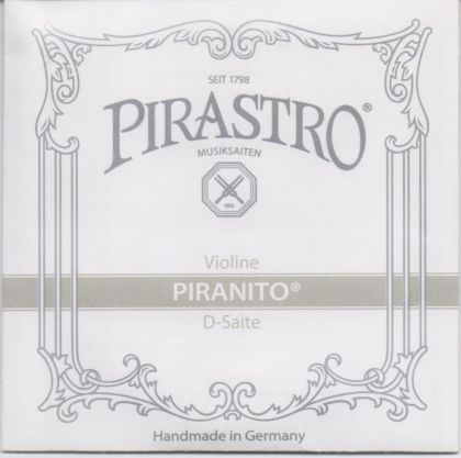 Pirastro Piranito Steel Core Chrome Steel Wound single единична струна за цигулка - D