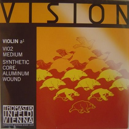 Thomastik Vision струна за цигулка A Syntetic core/Aluminium wound