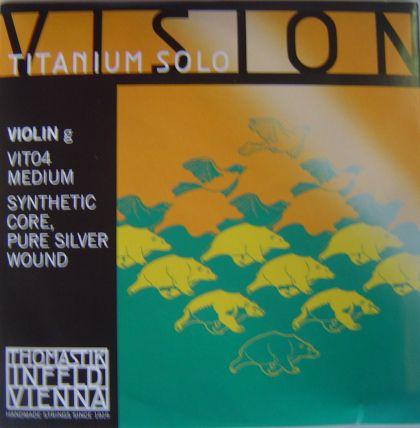 Thomastik Vision Titanium Solo synthetic core - единична струна G за цигулка - сребърна намотка