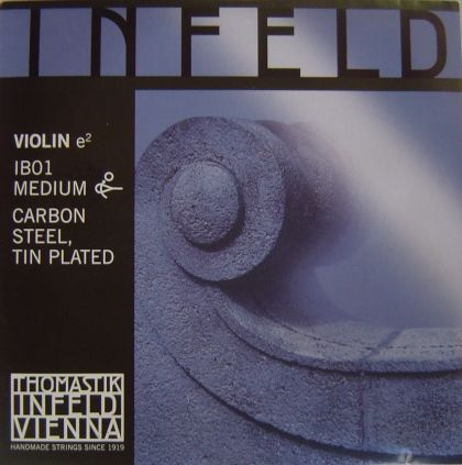 Thomastik Infeld blue composite core - единична струна E - carbon steel tin plated