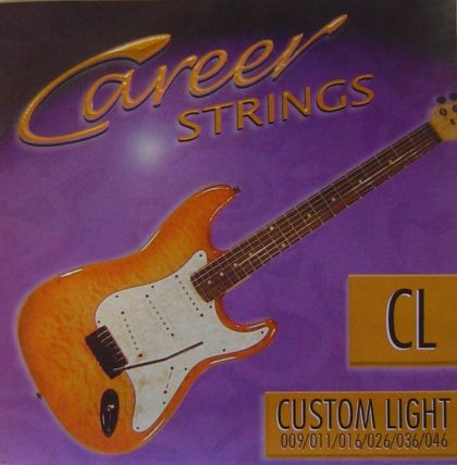 Career strings for electric guitar Custom Light 009-046