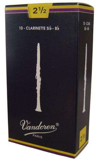 Vandoren платъци за В кларинет размер 2 1/2 - кутия