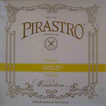 Pirastro Gold - кожена сърцевина с алуминиева намотка - единична струна за цигулка - A