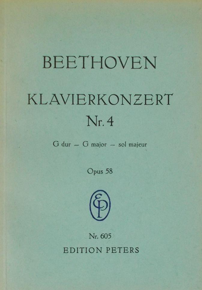 pauer Sol Majeur Beethoven : Klavier-konzert G Dur . G Major Opus 58.