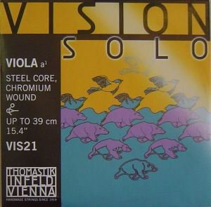 Vision Solo Synthetic core Chromium Wound единична струна за виола - A