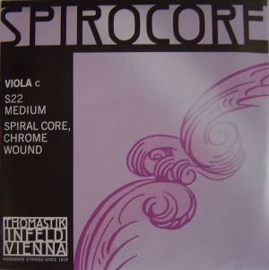 Thomastik Spirocore spiral core chrome wound единична струна за виола - C