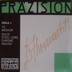 Thomastik Precision единична струна за виола Solid steel core Chrome wound - А