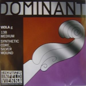 Thomastik Dominant Synthetik core Silver  wound единична струна за виола - G