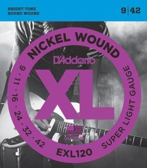 D'addario струни за електрическа китара китара EXL120