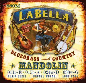 La Bella 2001 струни за класическа китара - Medium/Hard tension прозрачен найлон със сребърна намотка