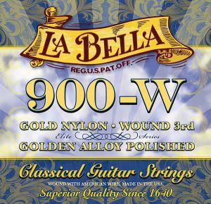 La Bella 900W струни за класическа китара - жълт найлон