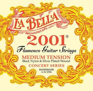 """La Bella 2001 """"Flamenca negra"""" - специален черен найлон -medium tension"""