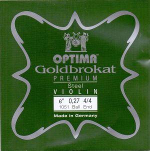 Optima Goldbrokat E 24K gold струна за цигулка 0,26 с топче