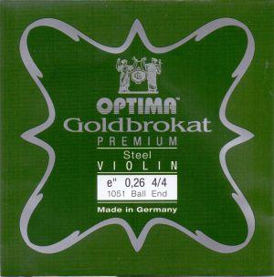 Optima Goldbrokat Premium E струна за цигулка 0,27 с топче