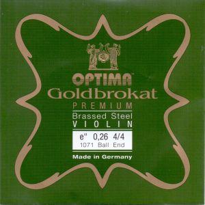 Optima Goldbrokat Premium E струна за цигулка 0,26 с топче