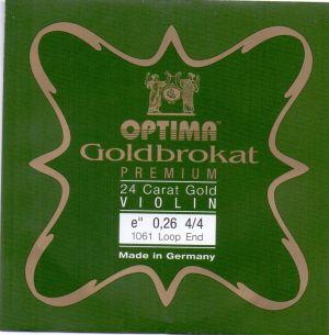 Optima Goldbrokat Premium E brassed steel струна за цигулка 0,26 с топче