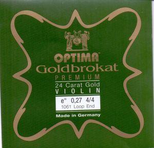 Optima Goldbrokat E 24K gold струна за цигулка 0,26 с клупче