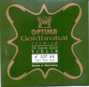 Optima Goldbrokat E 24K gold струна за цигулка 0,27 с клупче