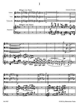 Дворжак - Клавирен квартет оп.87 за цигулка,виола,чело и пиано