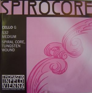 Thomastik Spirocore Spiral core Волфрам намотка  единична струна за чело - G