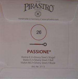 Pirastro Passione струна за цигулка E Silvery steel