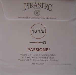 Pirastro Passione струна за цигулка G Silver/Gut