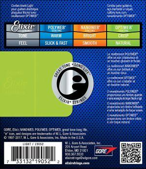 Elixir струни за електрическа китара с Original Optiweb ultra thin coating 009-042