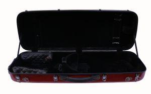 правоъгълен калъф за виола червен металик