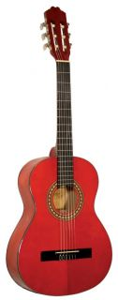 Kirkland класическа китар мод 34 размер 3/4  червена