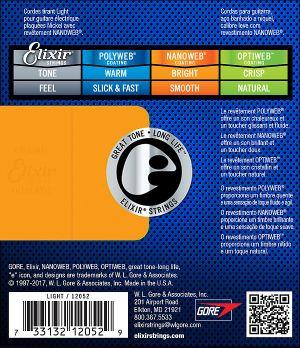 Elixir струни за електрическа китара с Original Nanoweb ultra thin coating 010-046