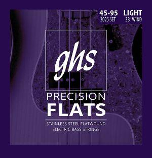 GHS Precision flatwound  струни за 4-струнна бас китара  stainless steel - 045 - 95
