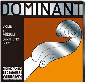 Thomastik Dominant струни за цигулка комплект 135A (с D Silver/Synthetic)
