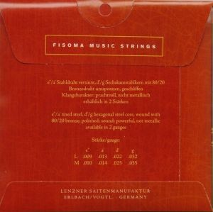 Fisoma Bronze Consort strings for Mandoline