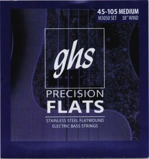 GHS Precision flatwound  струни за 4-струнна бас китара  stainless steel - 045 - 105