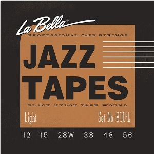 La Bella 800 L   струни за джаз китара Jazz Tapes 12-56 black nylon tape wound
