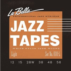La Bella 600 L   струни за джаз китара Jazz Tapes 12-56 white nylon tape wound