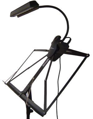 LED Career лампа с щипка - черна