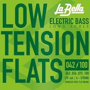 La Bella LTF-4A Low Tension Flex Flats  струни за 4 стр.бас китара Stainless steel 042/100