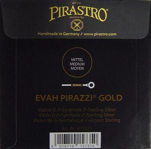 Evah Pirazzi Gold - единична струна D за цигулка - синтетична със сребърна намотка