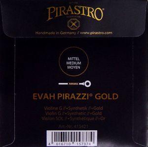 Evah Pirazzi Gold - единична струна G  за цигулка - синтетична със златна намотка