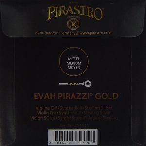 Evah Pirazzi Gold - единична струна G за цигулка - синтетична със сребърна намотка