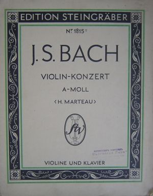 Бах Концерт за цигулка Nr.1 ла минор