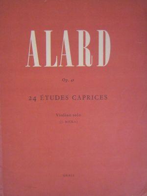 Alard 24 Етюди капризи оп.41